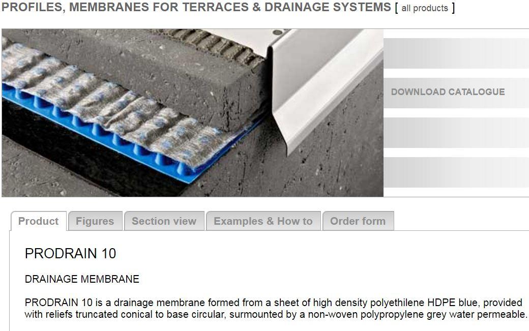 PRODRAIN membrane (drainage membrane)